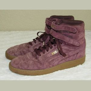 10 Puma Contact Purple Suede High Top Sneakers